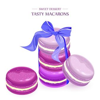 Macaroons lavender dessert
