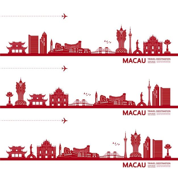 Macau travel destination  illustration.