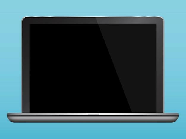 Macbook device screen display vector