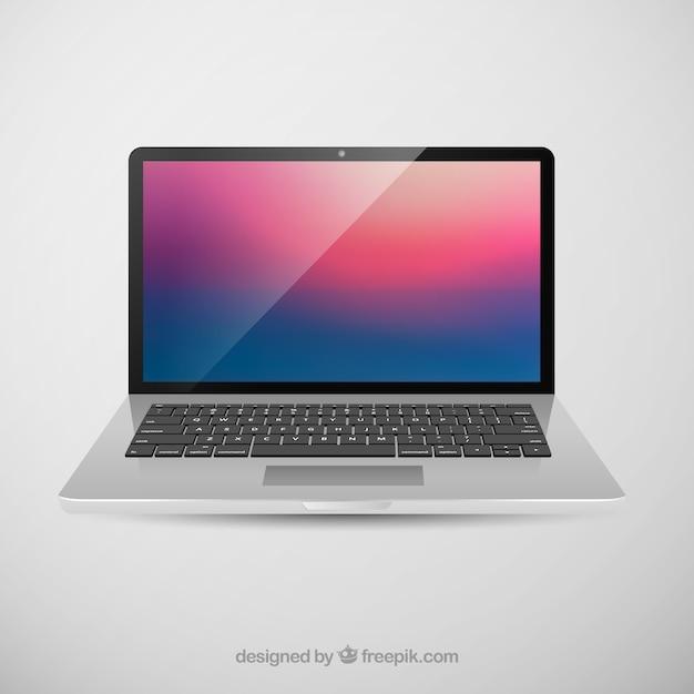 アップルのmacbook proの網膜ディスプレイベクター