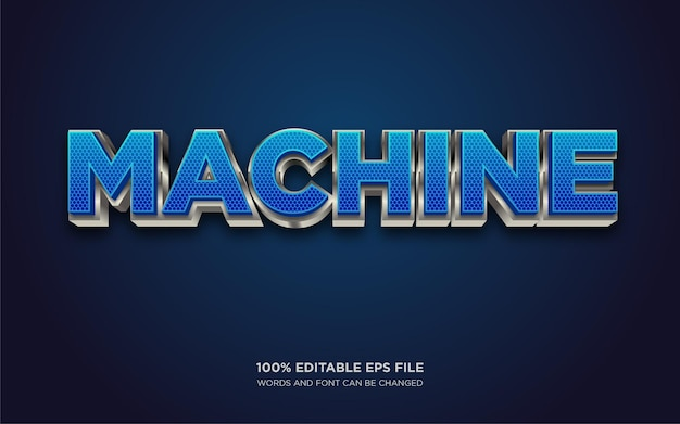 Machine 3d editable text style effect