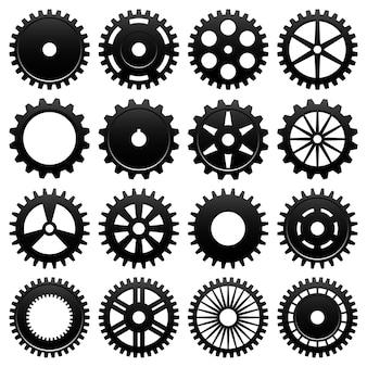 기계 기어 휠 톱니 바퀴. 기계 용 특수 톱니 바퀴 16 개.
