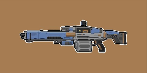 Machine gun isolated on brown