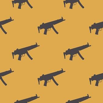Machine guns pattern pattern on white background. creative and military style illustration