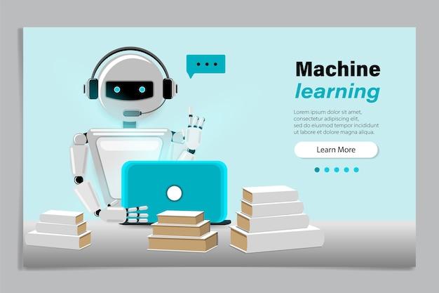 인공 신경망을 사용한 기계 학습 알고리즘 개념.