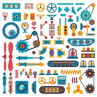 Machine parts different mechanism