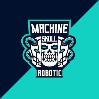 기계 로봇 e스포츠 및 스포츠 로고