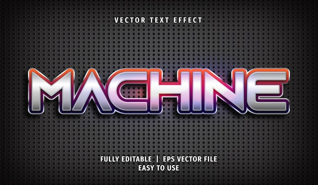 Machine text effect editable text style