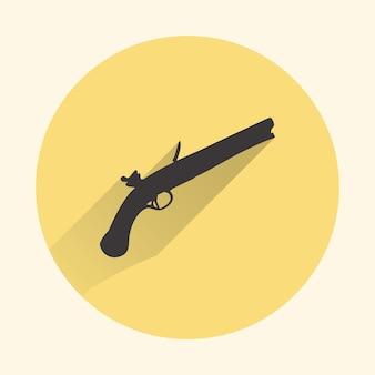기관총 아이콘 그림입니다. 창의적이고 레트로한 이미지