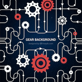Machinery background with gears
