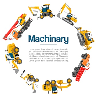 Machinery and construction equipment  cars  poster.