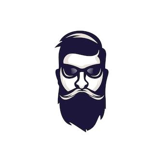 Macho bearded logo