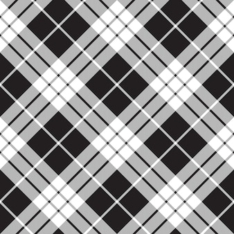 Macleod tartan black and white seamless