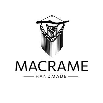 Macrame logo line art