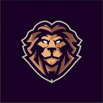 Mad lion mascot logo