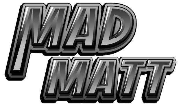 マッドマットのロゴのテキストデザイン