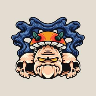 Безумный гриб и черепа