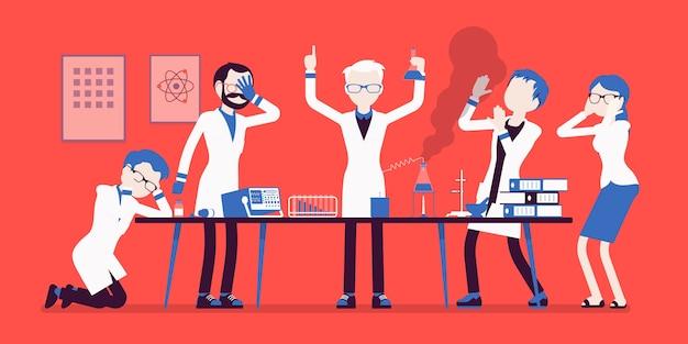 マッドサイエンティストは化学実験に失敗しました