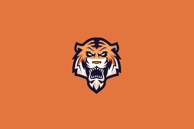 Mad tiger e sports logo