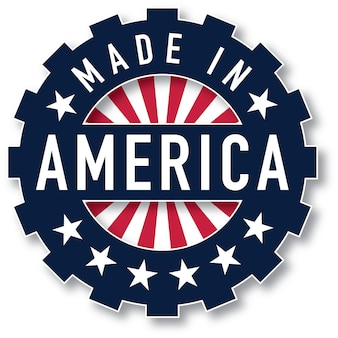 Made in america vector. pantone colors were used.