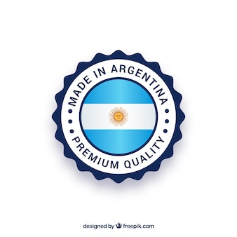 Made in argentina label
