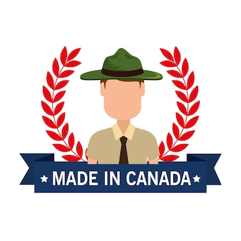Made in canada seal with ranger forest