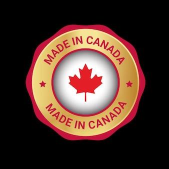 Made in canada vector logo badge
