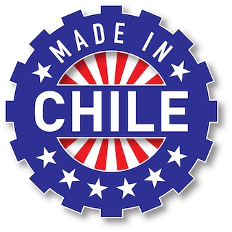 Made in chile flag color stamp. vector illustration