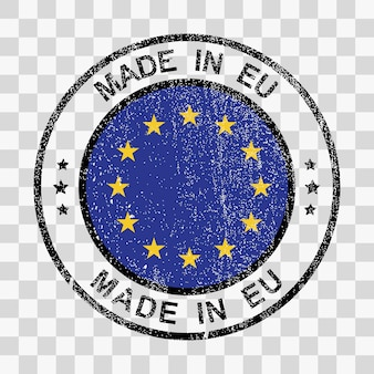 Made in european union stamp in grunge style