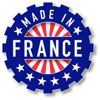 Made in france flag color stamp. vector illustration