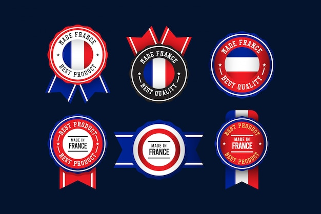 Made in france label set template.