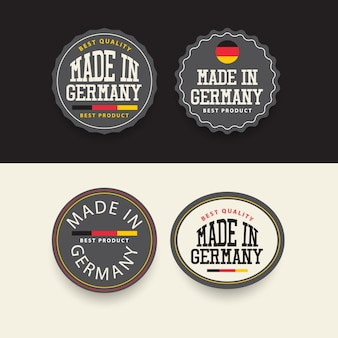 Made in germany label set template.