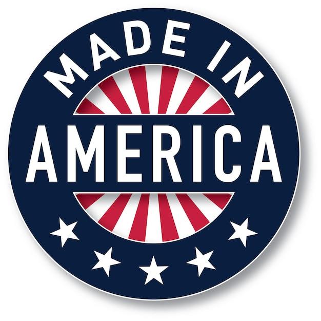アメリカ製のベクトル。パントンカラーを使用しました。