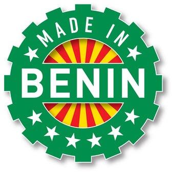 베냉 국기 색상 스탬프로 제작되었습니다. 벡터 일러스트 레이 션