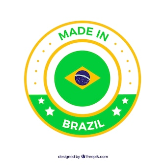 Made in brazil label