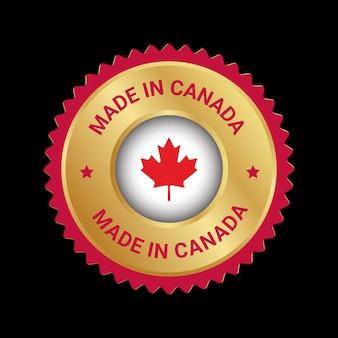 Сделано в канаде значок векторный логотип