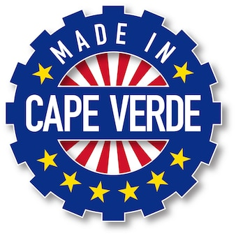 カーボベルデの旗のカラースタンプで作られました。ベクトルイラスト