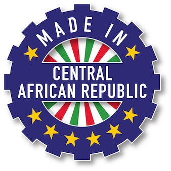 中央アフリカ共和国の国旗のカラースタンプで作られました。ベクトルイラスト