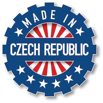 チェコ共和国の旗のカラースタンプで作られました。ベクトルイラスト