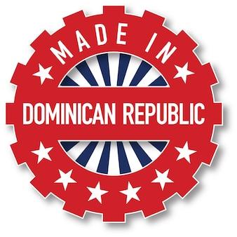 ドミニカ共和国の国旗のカラースタンプで作られました。ベクトルイラスト