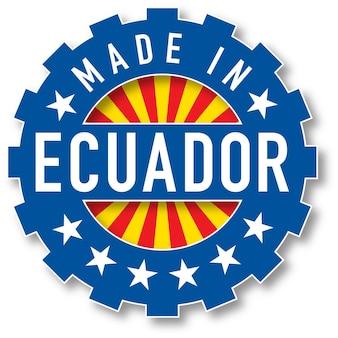 エクアドルの国旗のカラースタンプで作られました。ベクトルイラスト