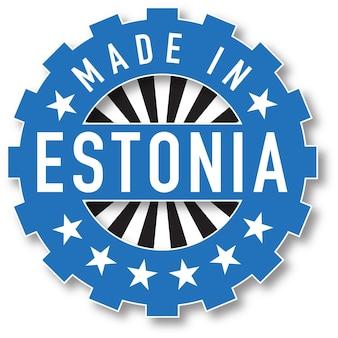 エストニアの国旗のカラースタンプで作られました。ベクトルイラスト