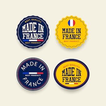 Сделано во франции шаблон набора наклеек.