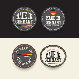 Сделано в германии шаблон набора наклеек.