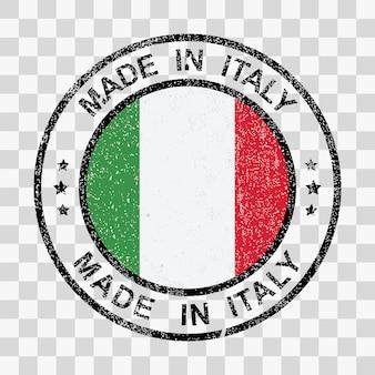Сделано в италии штамп в стиле гранж