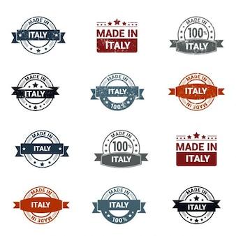 Сделано в италии stamp