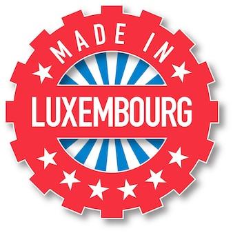 Сделано в люксембурге печать цвета флага. векторная иллюстрация
