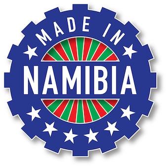 나미비아 국기 색상 스탬프에서 제작되었습니다. 벡터 일러스트 레이 션
