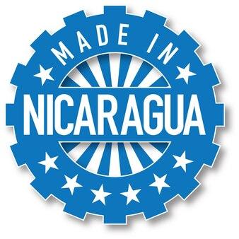 니카라과 국기 색상 스탬프에서 제작되었습니다. 벡터 일러스트 레이 션