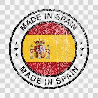 グランジスタイルのスペイン製スタンプ